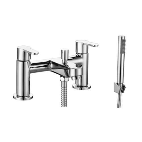 Bluci Lecca Chrome Bath Shower Mixer with Shower Kit