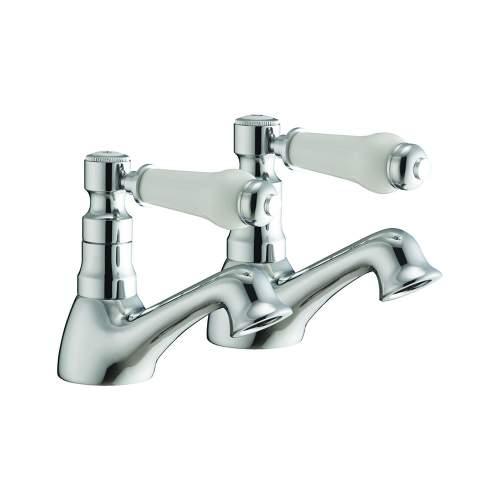 Bluci Levato Chrome Basin Pillar Taps