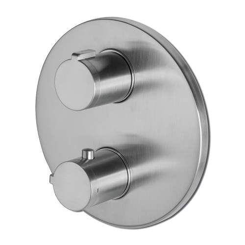 Bluci Tiber Stainless Steel Two Outlet Thermostatic Mixer Shower Valve