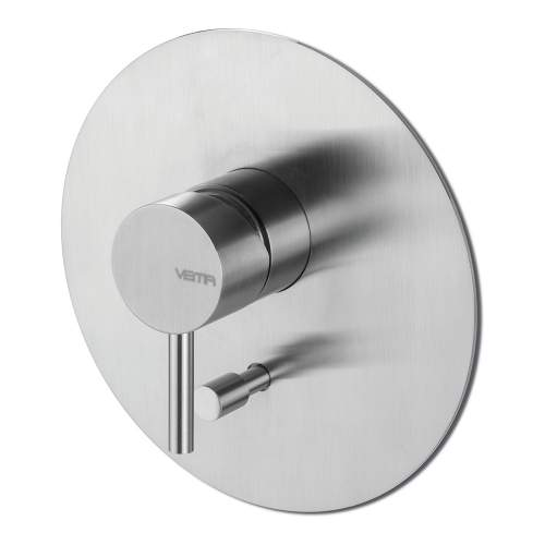 Bluci Tiber Stainless Steel Two Outlet Shower Mixer with Diverter