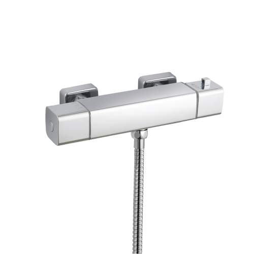 Bluci Quadro Cool-Touch Thermostatic Mixer Shower with Riser Kit