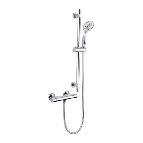 Bluci Lunea Thermostatic Bar Mixer Shower with Riser Kit