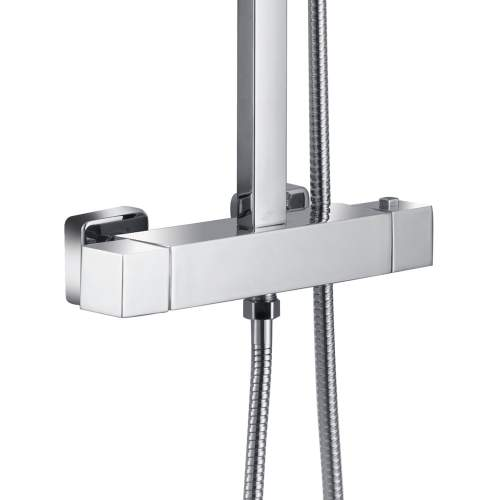 Bluci Quadro Cool-Touch Thermostatic Mixer Shower with Square Shower Head