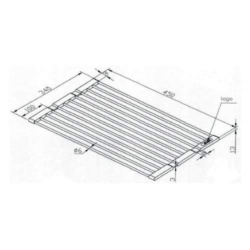 Caple Universal Stainless Steel Fold Mat