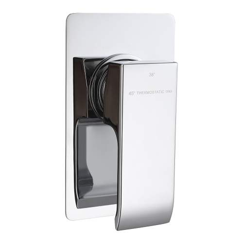 Bluci Cubic Single Outlet Chrome Thermostatic Shower Valve