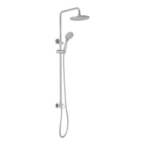 Bluci Chrome Round Shower Kit Overhead and Handset