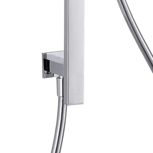 Bluci Premium Stainless Steel Square Slider Rail Kit & Elbow