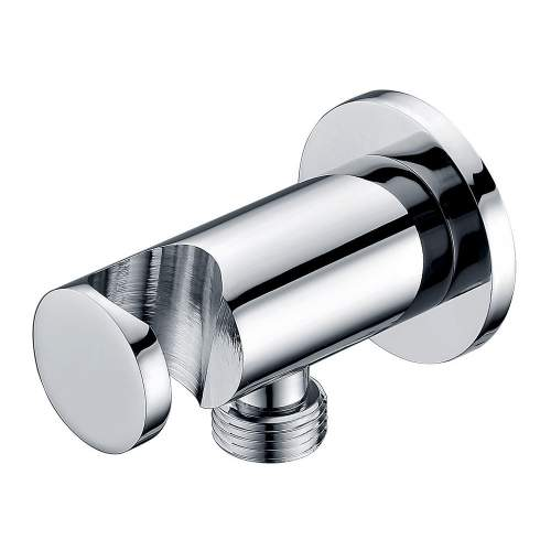 Bluci Stainless Steel Round Handset Wall Bracket with Wall Outlet