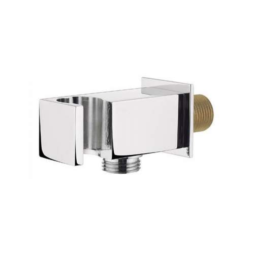 Bluci Stainless Steel Square Handset Wall Bracket with Wall Outlet
