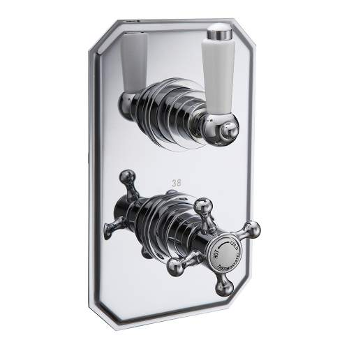 Bluci Traditional Lever Single Outlet Thermostatic Shower Valve