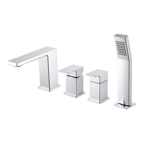 Bluci Lys Chrome Wall Mounted Bath Shower Mixer