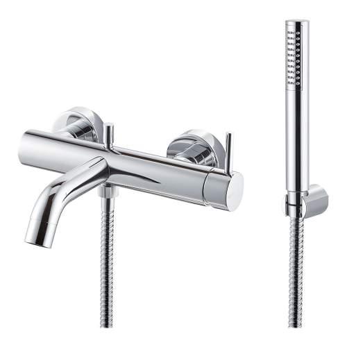 Bluci Maira Chrome Wall Mounted Bath Shower Mixer