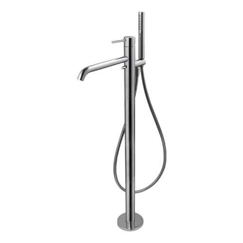 Bluci Maira Chrome Floor Standing Bath Filler