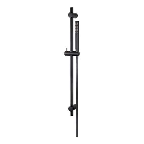 Bluci Maira Black ABS Riser Rail with Hose and Handset