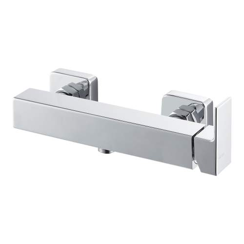 Bluci Lys Chrome Wall Mounted Single Outlet Bar Shower
