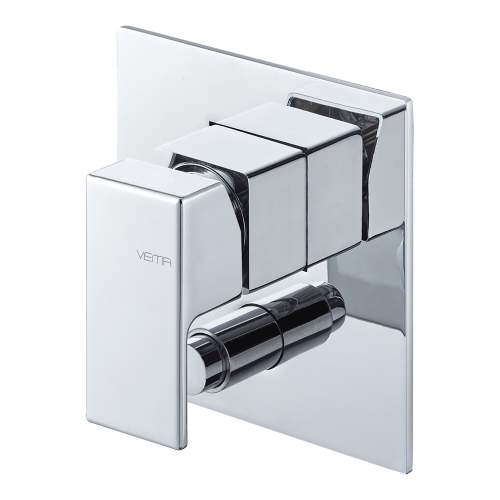 Bluci Lys Chrome Two Outlet Concealed Shower Mixer with Diverter