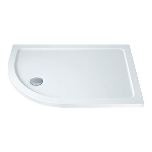 Bluci Low Profile 900mm Wide Offset Quadrant Slimline Shower Tray