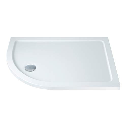 Bluci Low Profile 1200mm Wide Offset Quadrant Slimline Shower Tray