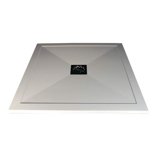 Bluci Ultra-Slim 800mm Wide Square Stone Resin Shower Tray