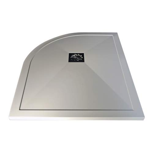 Bluci Ultra-Slim 1000mm Wide Offset Quadrant Stone Resin Shower Tray