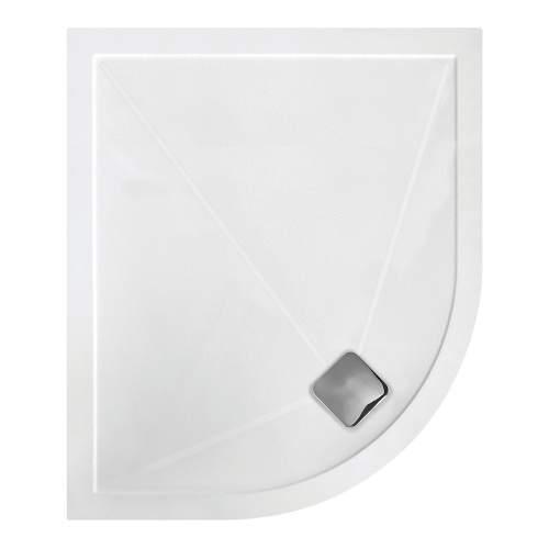 Bluci Anti Slip Ultra Slim 1200mm Offset Quadrant Shower Tray