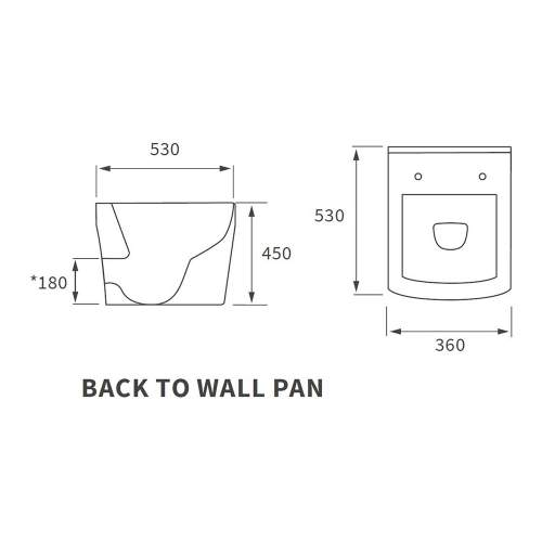 Bluci Tilia Rimless Back to Wall WC with Soft Close Seat