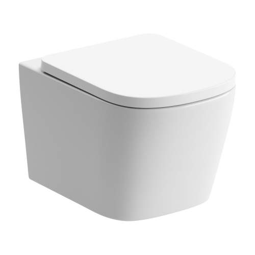Bluci Tilia Rimless Wall Hung WC with Soft Close Seat
