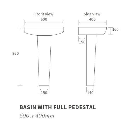 Bluci Tilia Basin & Full Pedestal
