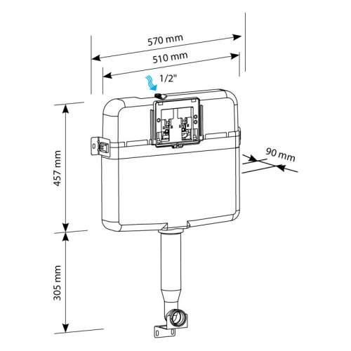 Bluci Slim Concealed Cistern