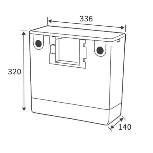 Bluci Side Inlet Dual Flush Concealed Cistern