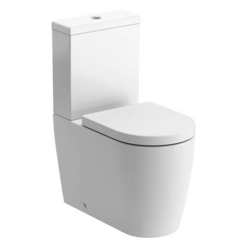 Bluci Cilantro Fully Shrouded Rimless Closed Coupled WC with Soft Close Seat