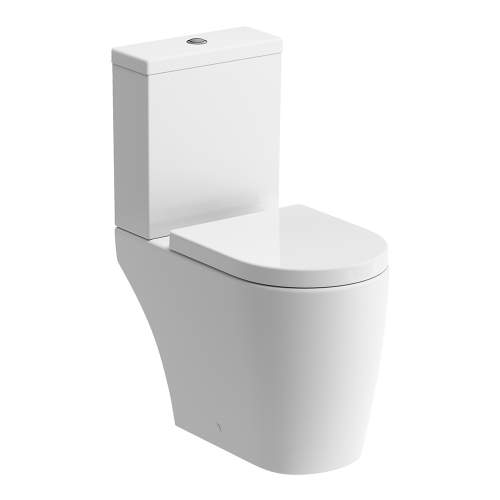 Bluci Cilantro Open Back Rimless Closed Coupled WC with Soft Close Seat