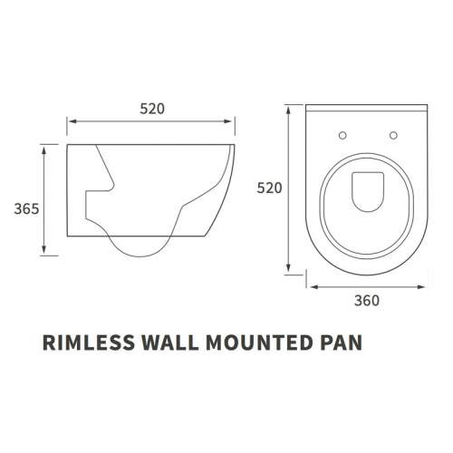 Bluci Cilantro Rimless Wall Hung WC with Soft Close Seat
