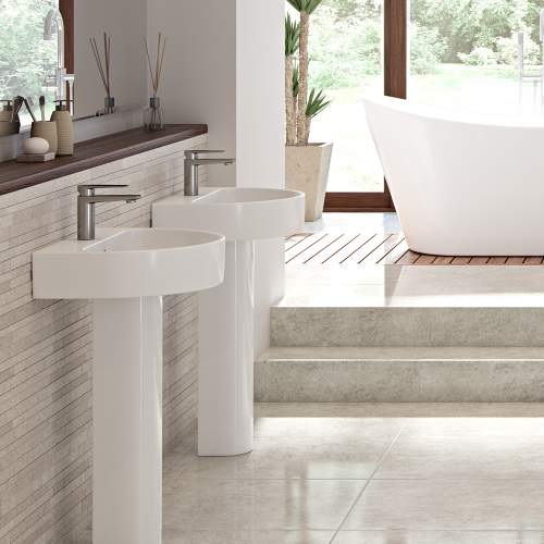 Bluci Cilantro Basin & Full Pedestal
