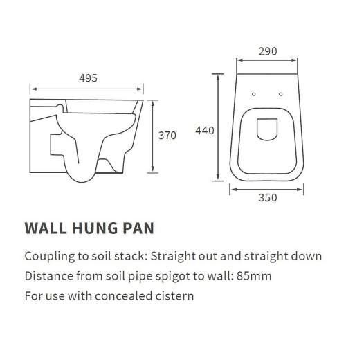 Bluci Amyris Wall Hung WC with Soft Close Seat