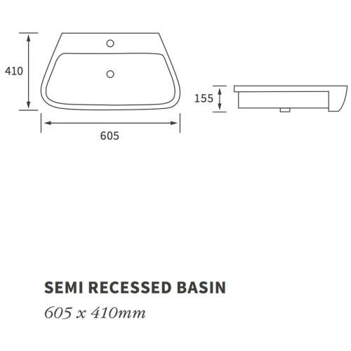 Bluci Amyris Semi Recessed Basin