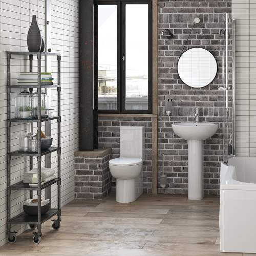Bluci Mimosa Fully Shrouded Close Coupled WC with Soft Close Seat