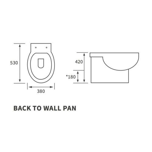 Bluci Mimosa Back to Wall WC with Soft Close Seat