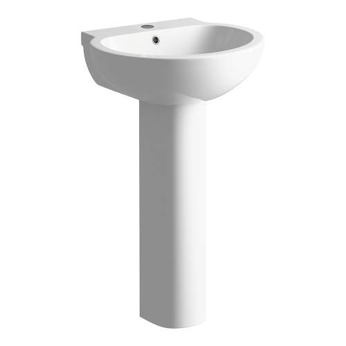 Bluci Mimosa Basin with Full Pedestal