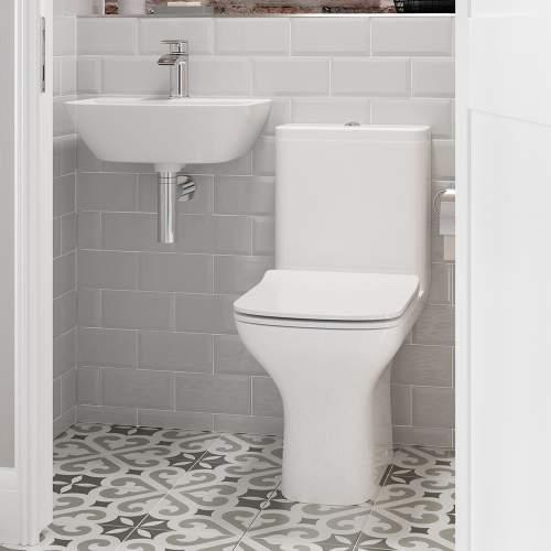 Bluci Cedarwood Fully Shrouded Close Coupled WC with Soft Close Seat