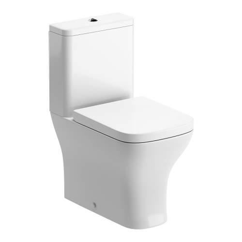 Bluci Cedarwood Fully Shrouded Close Coupled WC with Soft Close Seat Options