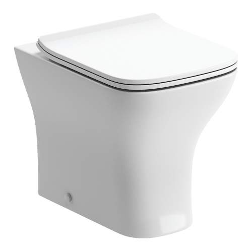 Bluci Cedarwood Back to Wall WC with Soft Close Seat