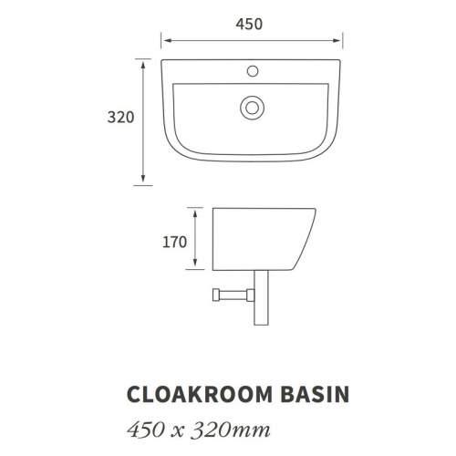 Bluci Cedarwood Cloakroom Basin with Bottle Trap