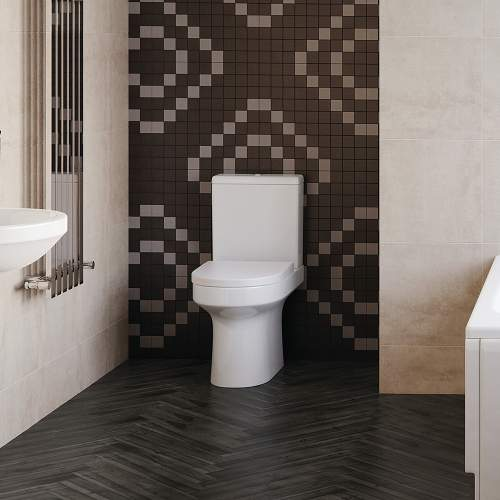 Bluci Laurus Fully Shrouded Close Coupled WC with Soft Close Seat