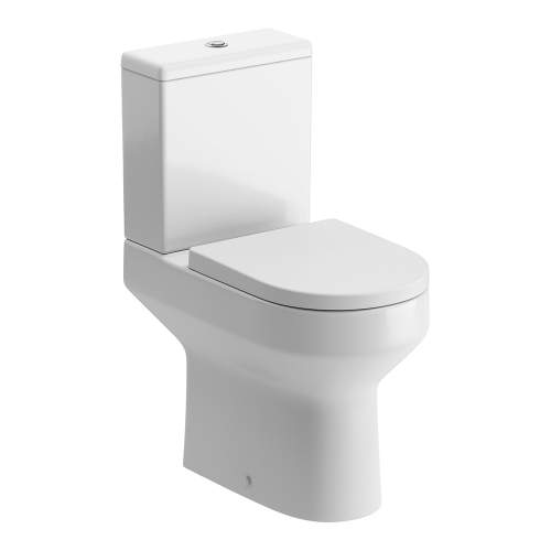 Bluci Laurus Open Back Comfort Height Close Coupled WC with Soft Close Seat