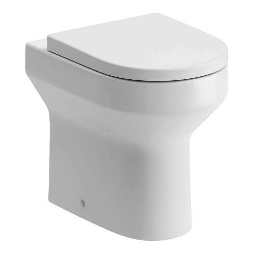 Bluci Laurus Back to Wall Comfort Height WC with Soft Close Seat