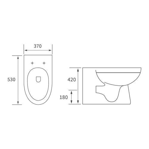 Bluci Laurus Back to Wall WC with Soft Close Seat