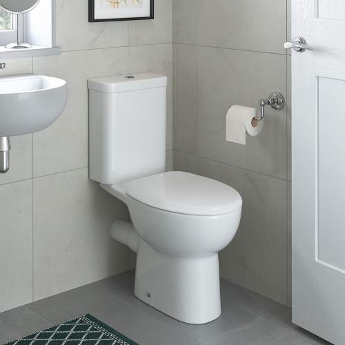 Bluci Tuscany Open Back Close Coupled WC with Soft Close Seat