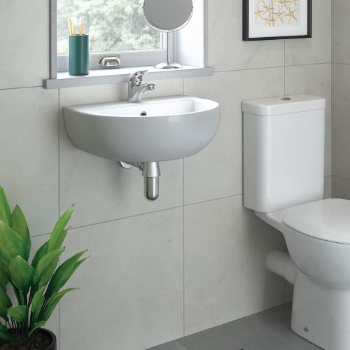 Bluci Tuscany Cloakroom Basin with Bottle Trap