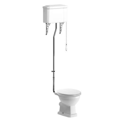 Bluci Sherbourne High Level WC with Soft Close Seat